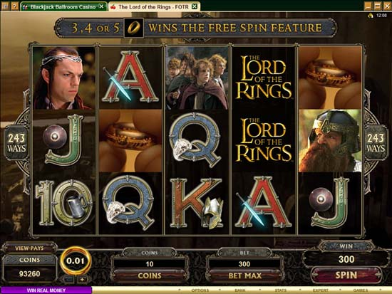 Progressive Jackpot Won On Lord of Rings Mega Slot Machine