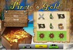 Pirate's Gold Instant Cash Scratch card at 888Games – 5 Euro Free