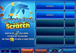 """Dolphins Cash"" Online Scratch Card"
