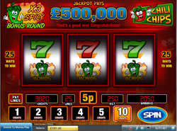 New Red Hot Chili Chips Slots Game at Scratchgames