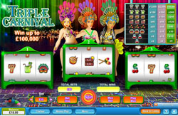 """Free Slots Trip to Rio With """"Triple Carnival""""  At 888Play"""