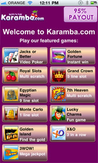 Mobile Scratch Cards With $5 Free At Karamba.com