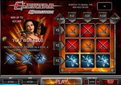 Elektra Ninja Assassin Scratch Cards Game