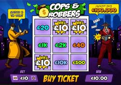 "New Scratch Cards Game ""Cops & Robbers"" at Scratchgames.com"