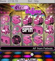 Disco Dollars Mobile Slot Machine At LadyLucks
