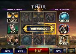 Play The Thor Marvel Comics Online Scratch Game