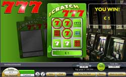 Scratch 777 Throws a Twist Into The Game With A Slots Combo