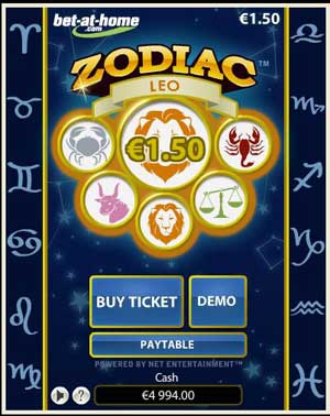 Play Zodiac The Netent Online Scratch Cards Choice