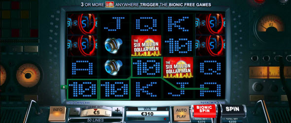 """The Six Million Dollar Man"" Now At Playtech Casinos Online"