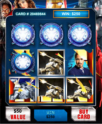 Iron Man 2 Mobile Scratch Card Game