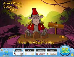 """""""Monkey Thimble"""" Online Scratchies Game With 5 Dollars Free"""