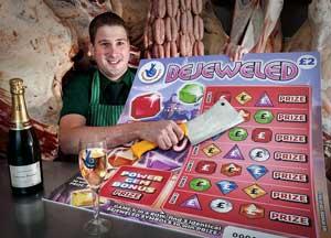 U.K. Butcher Wins National Lottery Bejeweled Scratch Card