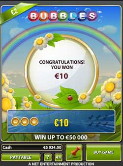 Bubbles Scratchie Review – Win £50,000 For A £2 Ticket