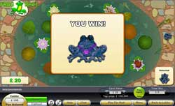 Pick The Winner In The Frog Race Scratchie at ScratchMania
