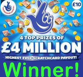 Another £4 Million Pound Scratch Card Winner In Hinckley