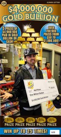 21 Year Old Student Wins $4 Million Gold Bullion Scratch Ticket