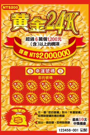 """Taiwan Lottery launches """"A Fistful of Dollars"""" Scratch Ticket"""