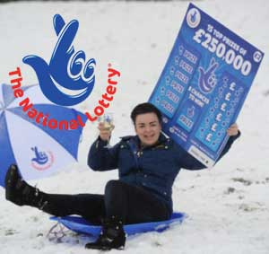 National Lottery Blue Scratch Card Won In The Nick Of time