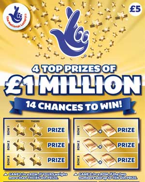 Gold National Lottery Yellow Scratch-off Pays A Million