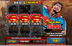 Fly High In The Superman Scratchcard Game