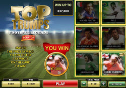 Top Trumps Football Legends – New Scratchcards From Playtech