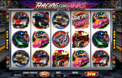 Racing for Pinks Reel Spinning Slots Action